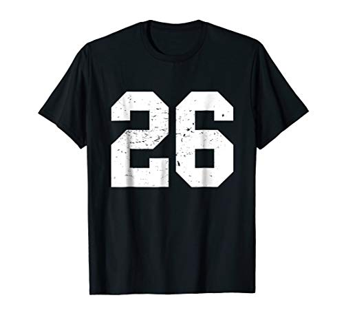 #26 Sports Fan Player T Shirt Number 26 Game Winner Lucky -