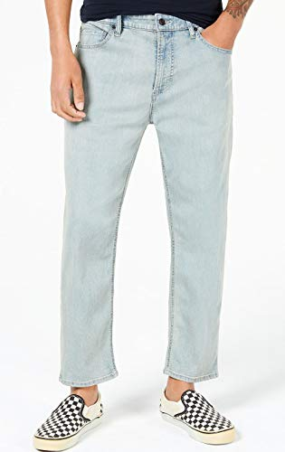 AMERICAN RAG CIE Mens Mist Wash Skater Tapered Leg Cropped Stretch Jeans W38 Blue from AMERICAN RAG CIE
