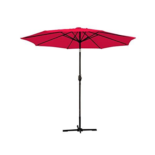Jeco UBP92-UBF91 Aluminum Patio Market Umbrella Tilt, 9 Red