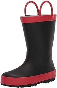 Amazon Essentials Unisex-Baby Harper Rain Boot, Black, 7 M US Toddler