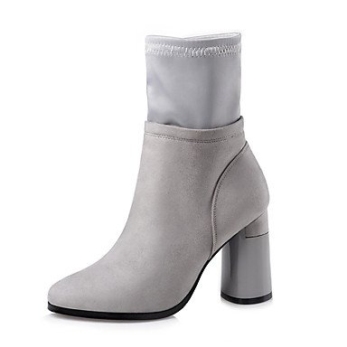 CN36 RTRY Fashion Heel Fabric EU36 Boots Casual Dress For Toe Winter Combat Zipper Shoes Booties Boots UK4 Chunky US6 Pointed Ankle Fall Boots Women'S Boots qXPwXxS