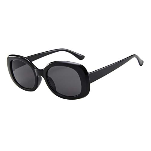 Limsea New Arrival! Women Men Oval Shape Glasses Vintage Retro Unisex Sunglasses Eyewear ()