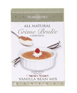 Dean Jacob's All Natural Creme Brulee Mix with Nielson-Massey Vanilla Microwave Creme Brulee