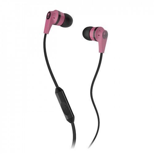 Skullcandy Supreme Sound Earphones Ink'd 2.0 (Flat Cord) Earbud Headphones - Hassle Free Packaging (Inkd 2.0 Pink)