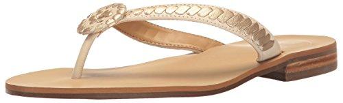 Jack Rogers Women's Ali Dress Sandal, Bone/Gold, 6 M US by Jack Rogers