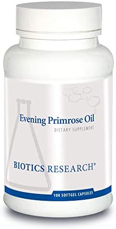 Biotics Research Evening Primrose Oil Potent Gamma Linolenic Acid GLA Source, Linoleic Acid, Healthy Inflammatory Response, Cardiovascular, Neurological, Skin, Women's Health. 100 Softgel Capsules