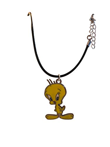 Medallions Birds (Porter Gallery USA 1.5 inch Tweety Bird Medallion on Waxed Cord Necklace 16-18
