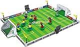 BRICK-LAND Sport COMPATIBLES Building Block Toy 9Redes de los Jugadores de Fútbol con el Lente y Campo de fútbol para niños 6+, 251Piezas,