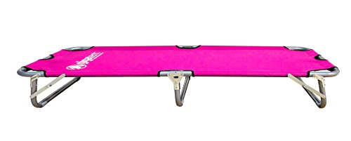 GigaTent Kids Junior Cot Portable Folding Travel Bed - Camping Outdoor Hiking RV or School Child Daycare - 60 Long - Includes Travel Bag - Pink