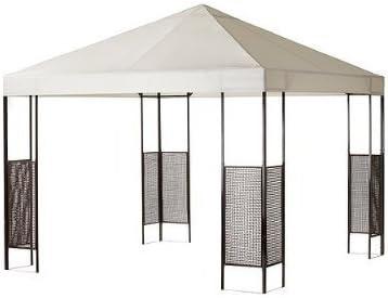 Ikea Carpa ammerö Jardín Tienda con protección UV, Wind durchlass, acero postes, handgeflochtenem, marrones ratán – beiger, lavable – Incluye pflöcke de metal plástico para fijación: Amazon.es: Hogar