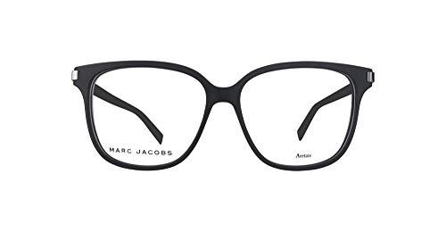 Marc Jacobs Plastic Rectangular Eyeglasses 54 0RZZ Matte Black Dark Ruthenium