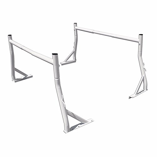 AA Products Inc. AA-Racks Model X35 Two-bar Pick-Up Truck Utility Ladder Rack, 800 lb, Matte White