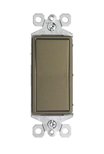 Pass & Seymour TM870ABCC10 15A Single Pole Decorative Switch, Brass