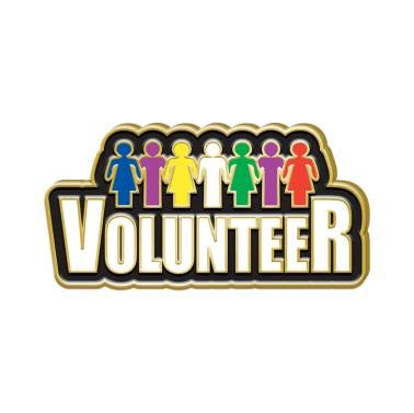 (Volunteer Appreciation Pins - Volunteer Award Pins with Color Enamel 1 Pack Prime)
