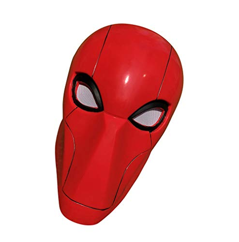 Yacn Red Hood Helmet Costume Deluxe Full Head Mask Adult Props Accessory for Halloween Cosplay