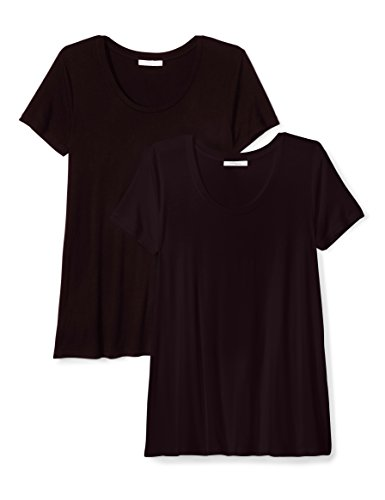 Daily Ritual Women's Standard Jersey Short-Sleeve Scoop Neck Swing T-Shirt, Black/Black, XXL by Daily Ritual (Image #1)