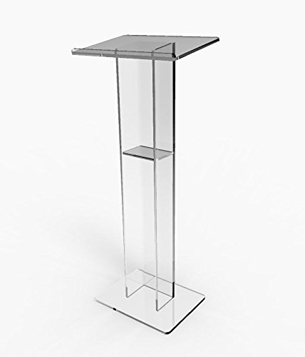 FixtureDisplays Acrylic Podium Plexiglass Pulpit School Church Lectern 15198 by FixtureDisplays