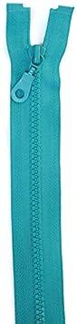 Jajasio 2 Reißverschlüsse mit Zähnchen teilbar, 45 cm lang Reißverschluss Kunststoff für Jacken/Farbe: 01 - weiss
