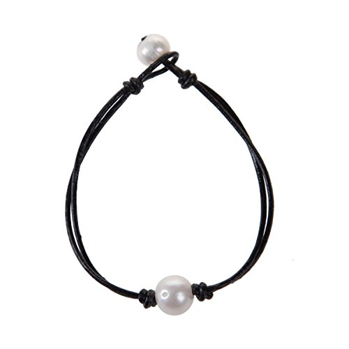 (The Feeling Handmade Pearl Wrap Bracelet Single Pearl Leather Knotted Bracelet for Women 8