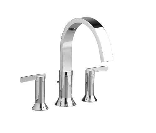 American Standard 7430.900.002 Berwick 2 Lever Handle Deck Mount Tub Filler, Polished Chrome