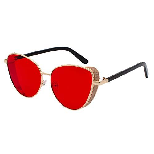 Retro Vintage Sun Glasses For Men, Cat Eye Sunglasses For Women Metal Frame Outdoor Eyewear Stylish Driving ()
