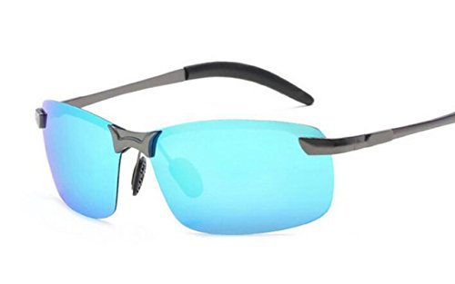 Conduite Tukistore de Hommes Lunettes Ultra Soleil Gun Sport Mode Métal Protection Polarisées Bleu UV Lunettes avec Hommes de en Léger Argent pour Soleil Cadre wrAYnrpq