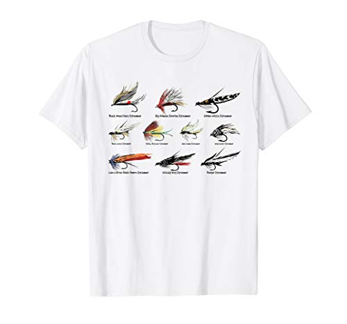 (Vintage Fly Fishing Lures in Color T-shirt )