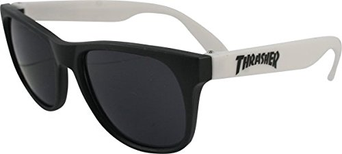 THRASHER Logo - Gafas de Sol, Color Blanco y Negro: Amazon ...