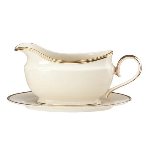 China Dinnerware Gravy (Lenox Eternal Sauce Boat and Stand, Ivory)