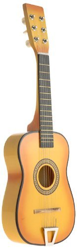 AJ Toys & Games Orange Acoustic Classic Rock 'N' Roll 6 Stringed Guitar Toy Guitar Musical Instrument Kids, Includes: Guitar Pick & Extra Guitar String