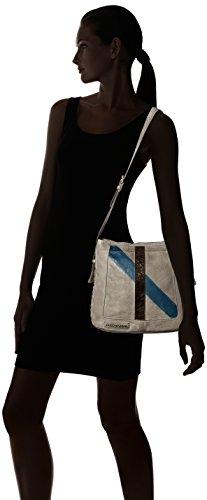 Taschendieb Td0067g - Borse a tracolla Donna, Grau, 9x30x31.5 cm (B x H T)