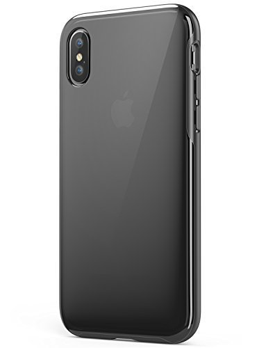 Anker iPhone X Case, iPhone 10 Case, KARAPAX Ice Case, Semi-Transparent Hard Back and Soft Bumper [Support Wireless Charging] for Apple 5.8 in iPhone X (2017) - Black