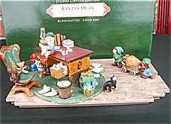 (2001 Hallmark Keepsake Ornament Club Studio Limited Edition 'Santa's Desk' Keepsake Ornaments with Display Piece)