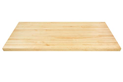 Big Bison Maple Butcher Block, 48 x 25 x 1.5 Inch Wood Countertop - Made in America