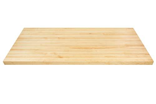 Solid Wood Countertop (Big Bison Maple Butcher Block, 48 x 25 x 1.5 Inch Wood Countertop - Made in America)