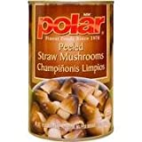 Polar Peeled Straw Mushrooms 15 Oz (Pack of 4)