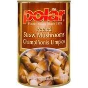 Polar Peeled Straw Mushrooms 15 Oz (Pack of 4)