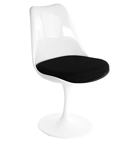 Plata Saarinen Style Tulip Side Chair Black