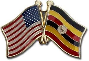 JumpingLight Wholesale Pack of 12 USA American Uganda Friendship Flag Hat Cap Lapel Pin for Home, Official Party, All Weather Indoors Outdoors -