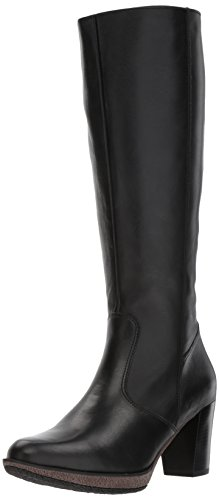 Ara Leather Heels (ara Women's Bexley Knee High Boot, Black Calf, 7.5 M US)
