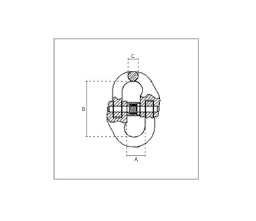 4er Set 1,12t Verbindungsglied G/üteklasse 8 Kettenverbinder 6mm Aufh/ängeglied GK 8 Anschlagkette