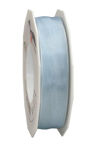 Morex Ribbon Wired Lyon Ribbon, 1-Inch by 27-Yard Spool, Lt Blue