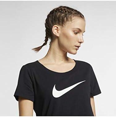 ナイキ ウィメンズ DRI-FIT スコープ スウッシュ Tシャツ M ブラック/ブラック/ヘザー/(ホワイト)