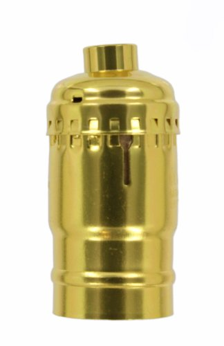 Leviton 8004 Electrolier 1-Circuit Keyless Lamp Holder, 660 W, Incandescent, Medium, Brass