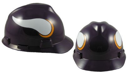 MSA NFL Ratchet Suspension Hardhats - Minnesota Vikings Hard Hats (Hard Vikings Minnesota Hat)
