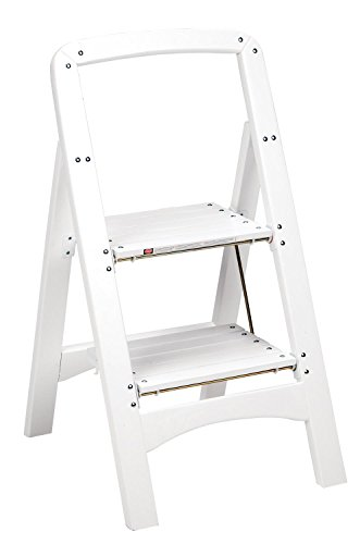 Cosco Products Industrial Two Step Rockford Wood Step Stool, White by Cosco
