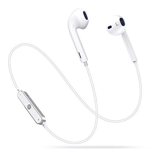 Bluetooth Headphones, FKANT Wireless Headphones Bluetooth V4.1 Earbuds with Mic Stereo Sweatproof In-Ear Earphones Noise Cancelling Sports Headset Compatible for Iphone X 8 7 Plus Samsung Galaxy S7 S8