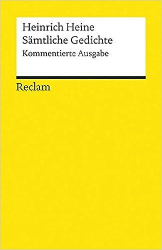 große Auswahl Beste süß billig Sämtliche Gedichte: Kommentierte Ausgabe Reclams Universal ...