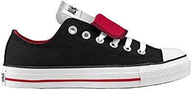 f068067c332d6d Converse Chuck Taylor Double Tongue Shoes in Black Red Grey (1V301)