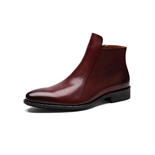 Estilo Altos Cuero De Zapatos Para Trabajo Hombres Reddishbrown Negocios Boda Europeo Zpedy Botas w8q0SS6